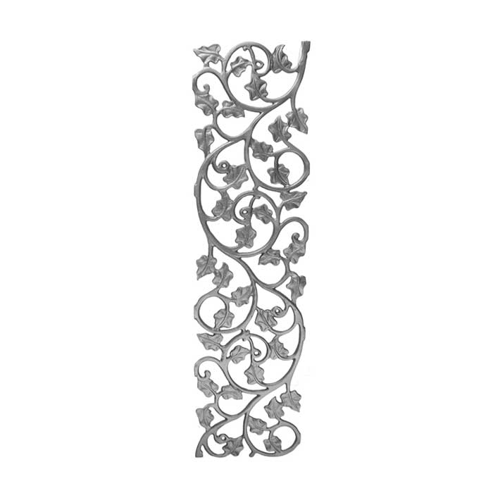"""31"""" Tall Cast Iron Panel, Ivy Leaf Style, Double Faced"""