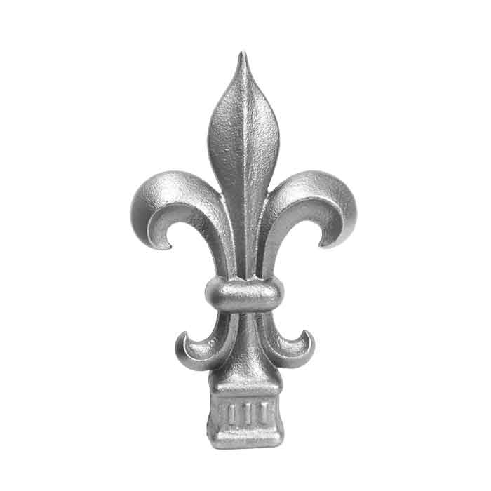"Aluminum Fleur-de-lis Spear Finials for 1/2"" sq., 3/4"" sq., and 1"" sq. Bar"