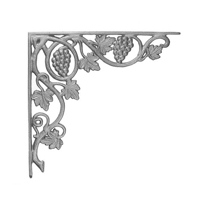 "16-1/4"" Tall Cast Iron Bracket, Vineyard Style, Double Faced"