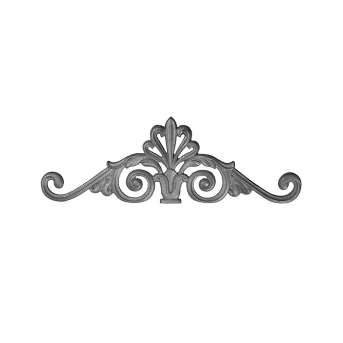 """Cast Iron Gate Crown, 7"""" Tall, Single Faced"""