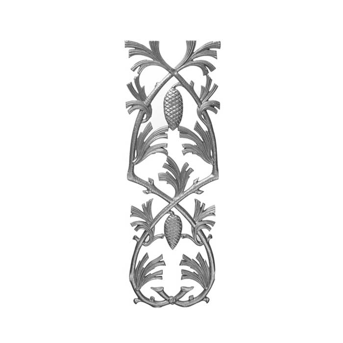 """29"""" Tall Cast Iron Panel, Pinecone Style, Double Faced"""