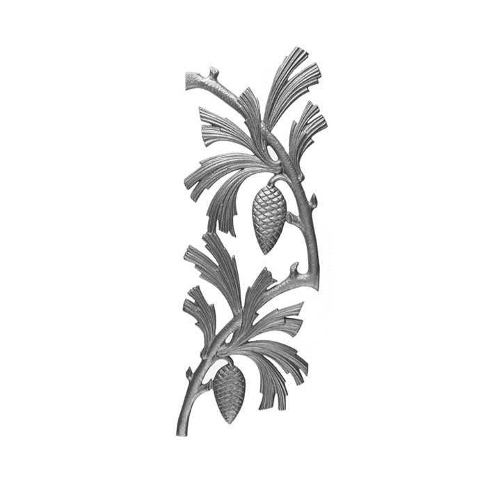 """24-7/8"""" Tall Cast Iron Panel, Pinecone Style, Double Faced"""
