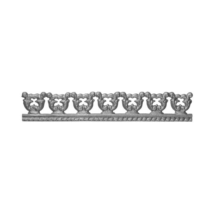 """15-3/4"""" Wide Cast Iron Valance, Double Faced"""