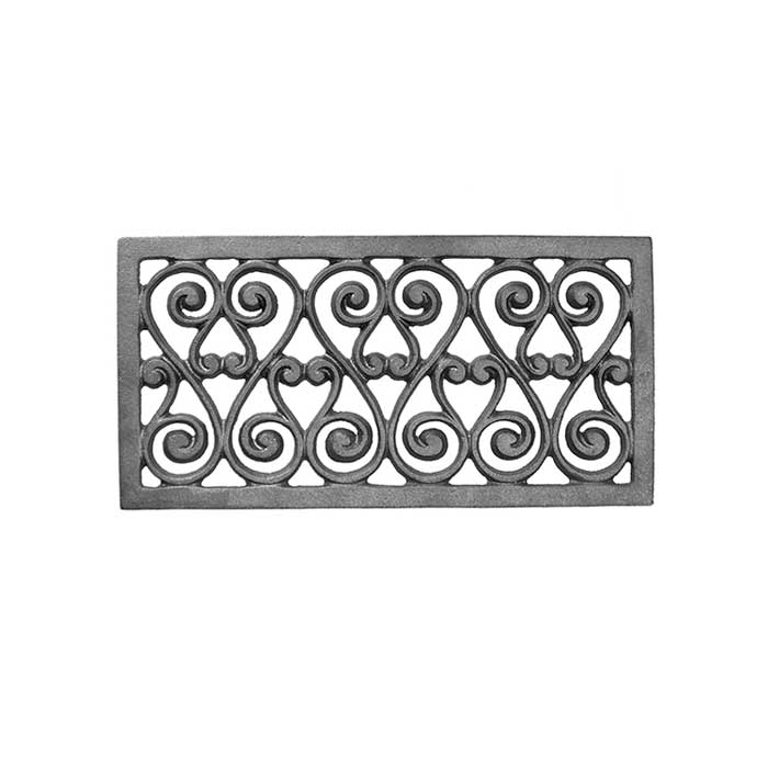 "12-1/2"" wide x 6-1/2"" tall Cast Iron Vent, Single Faced"