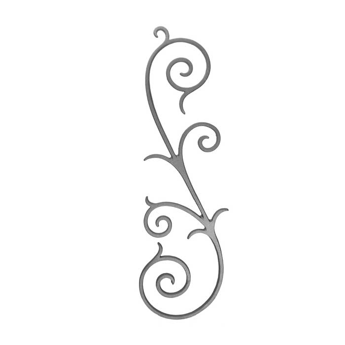 """27-3/4"""" Tall Cast Iron S-Scroll Panel, Double Faced"""