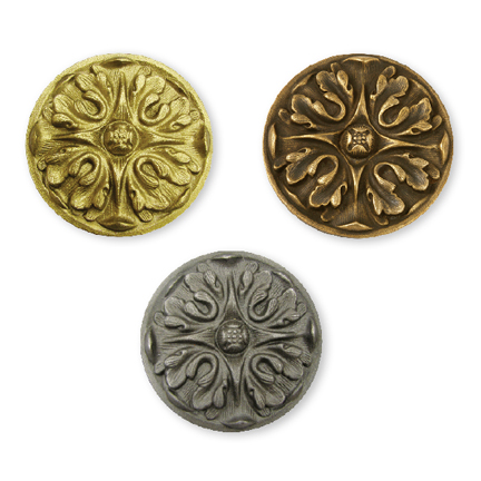 "Bronze Acanthus Style Rosettes, 4-1/2"" Outside Diameter"