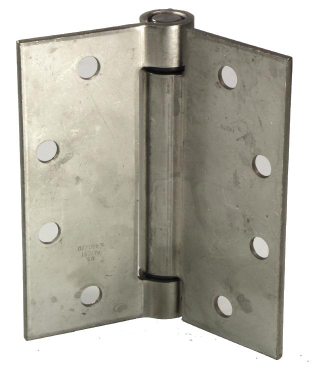 """4"""" x 4"""" Adjustable Spring Hinge, Stainless Steel , 40lbs per hinge"""
