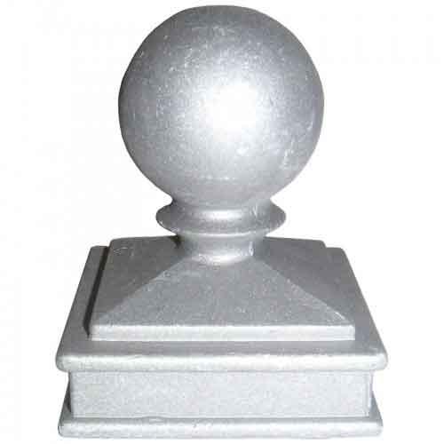 "Ball Cap for 2-1/2"" sq., Aluminum, 3"" sq. Base"