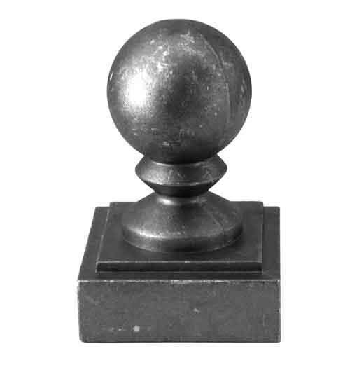 "Ball Cap for 2-1/2"" sq., Aluminum, 2-3/4"" sq. Base"