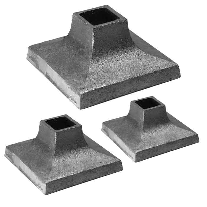 """Aluminum Cover Shoes for 1"""", 1-1/4"""", 1-1/2"""" and 2"""" Square Bar"""