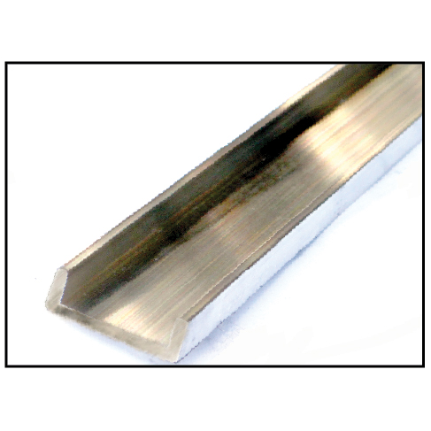 Aluminum Channels, Mill Finish, for Handrail Molding