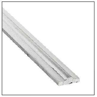 """9/16"""" x 5/32"""" Aluminum Collar Material, 9'10"""" Long"""