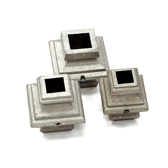 """Aluminum Picket Collars, Die Cast w/Set Screw for 1/2"""", 5/8"""", 3/4"""" and 1"""" Square Bar"""
