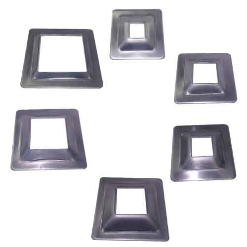 Aluminum Cover Plates for Square Bar, No Mounting Holes