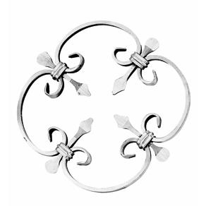 """1/2"""" x 1/4"""" Forged Aluminum Quatrefoil Panel, 13"""" in diameter"""