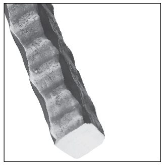 "1/2"" sq. Heavily Hammered Aluminum Bar, 10FT"