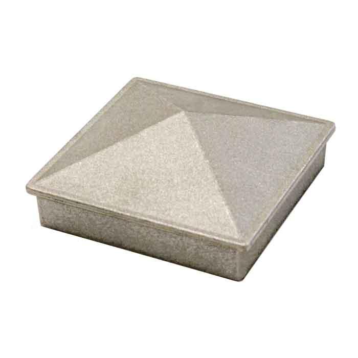 "Aluminum Pyramid Post Caps for 2"", 2-1/2"" and 3"" Square Bar"