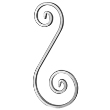 "1/2"" x 1/4"" Forged Aluminum S-Scroll, 11-7/16"" Tall"