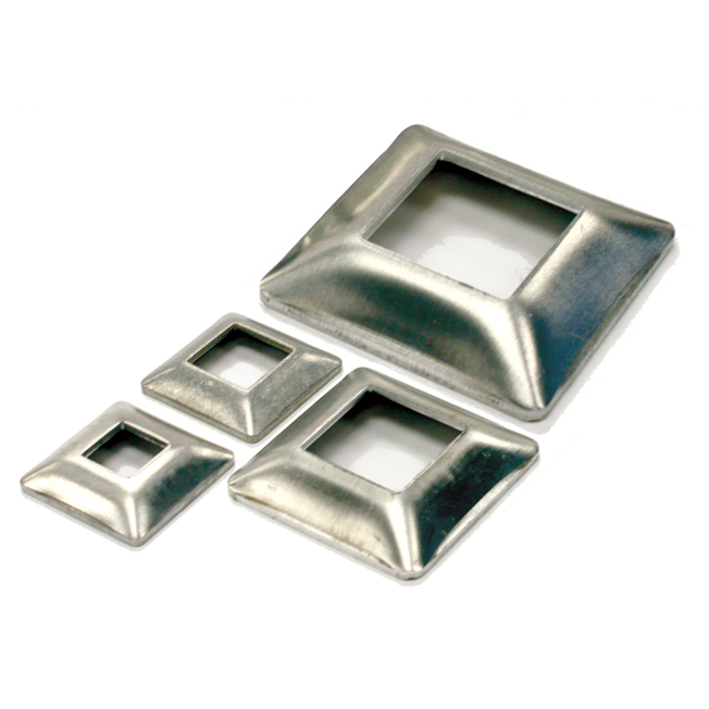 """Aluminum Base Plates for 3/4"""", 1-1/4"""", 1-1/2"""" and 2"""" Square Bar"""