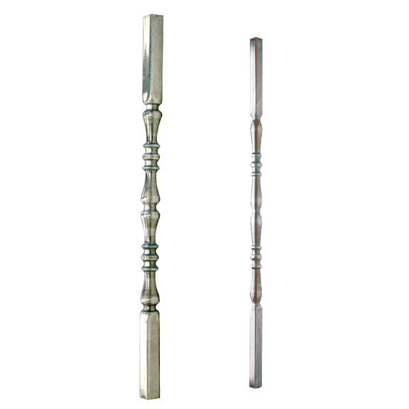 Aluminum Tubular Post & Baluster with Double Collar Design