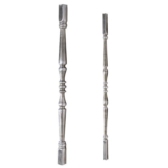 Aluminum Tubular Post & Baluster with Single Collar Design