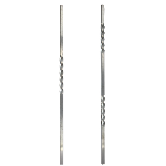 "3/4"" Square Twisted Aluminum Bars"