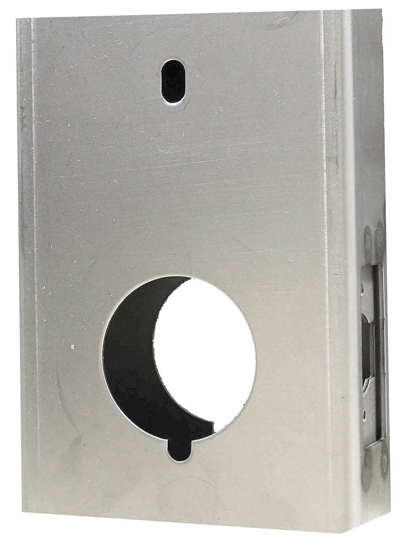 Gate Box, Aluminum, for M210 Door Lock, Weld or Bolt On