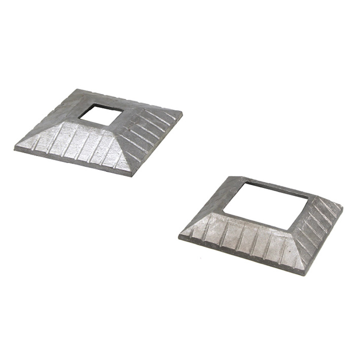 """Decorative Aluminum Slip on Cover Plates for 1"""" to 2"""" Square Bar"""