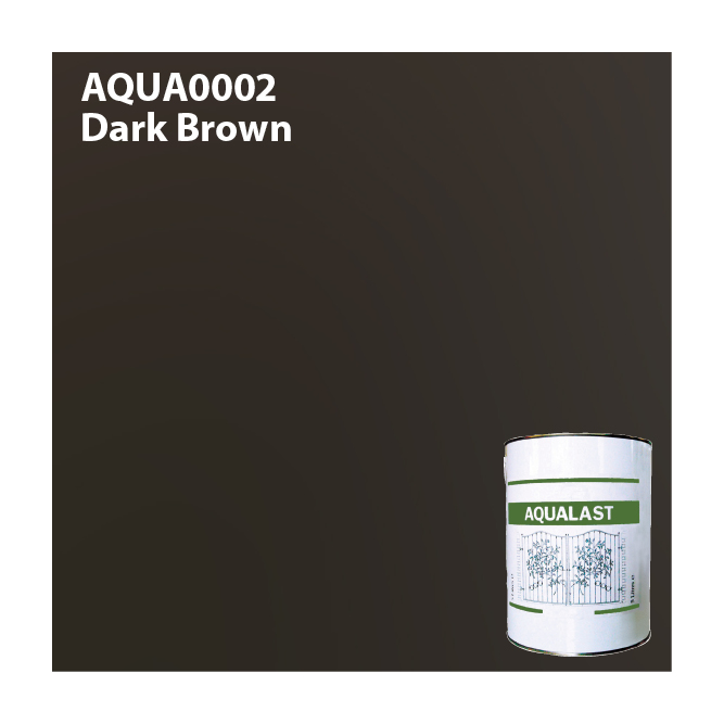 Aqualast Dark Brown Metal Paint