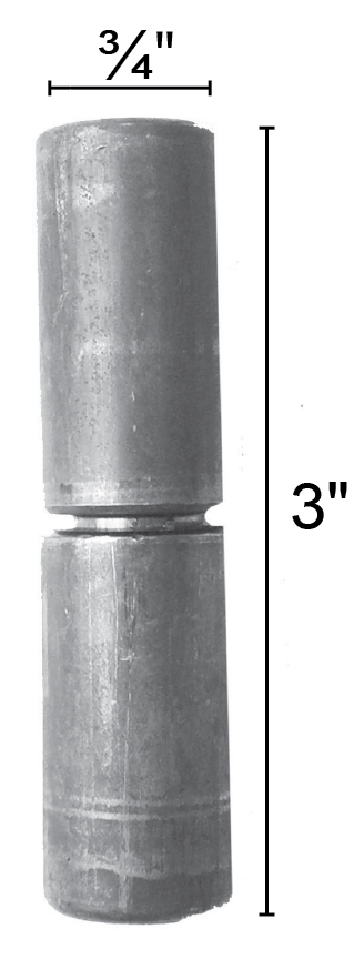 "3"" Tall Barrel Hinge, Steel, Capacity per pair 50 lbs."