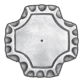 "3"" sq. Steel Base Plate, 1/4"" Thick"