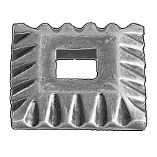 """Base Collars in Steel with 2"""" sq. base"""
