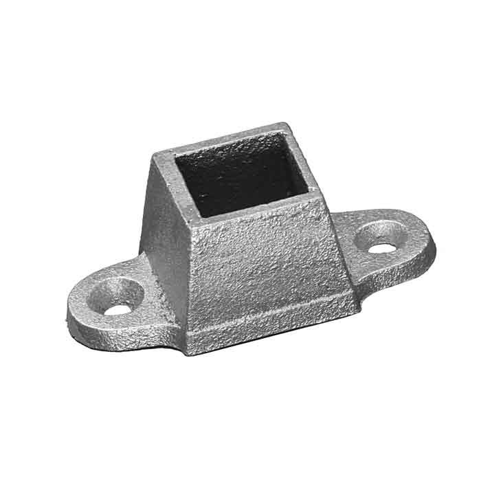 """Base Shoe for 1"""" sq., Cast Aluminum, w/two tabs"""
