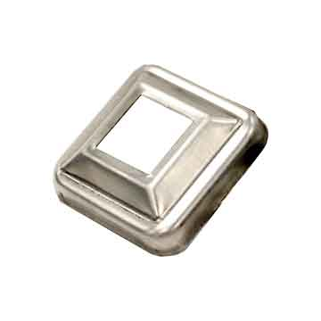 "Base Plate for 1-1/4"" sq., Aluminum, 3-1/8"" sq. base"