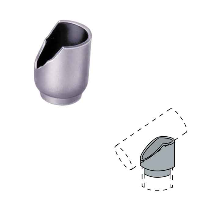 "Steel Coped Drive-on Bevel Tee Connectors for 36 degree slopes and 1-1/4"" and 1-1/2"" Schedule 40 Pipe"