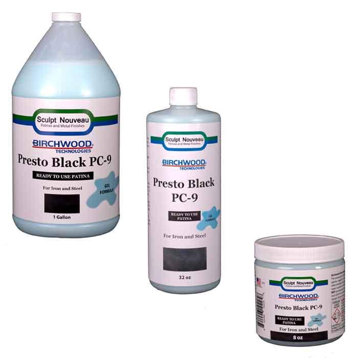 Birchwood Technologies Presto Black GEL Patina for Iron & Steel