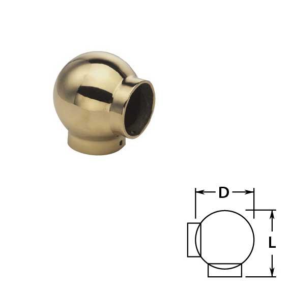 Ball Ell in Brass