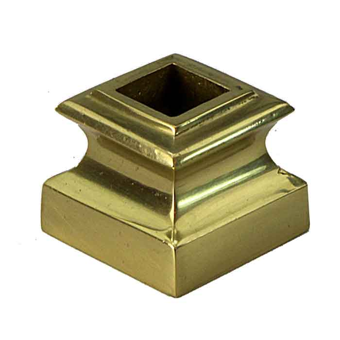"""Base Shoe for 1/2"""" sq., Brass, 1-1/16"""" Tall"""