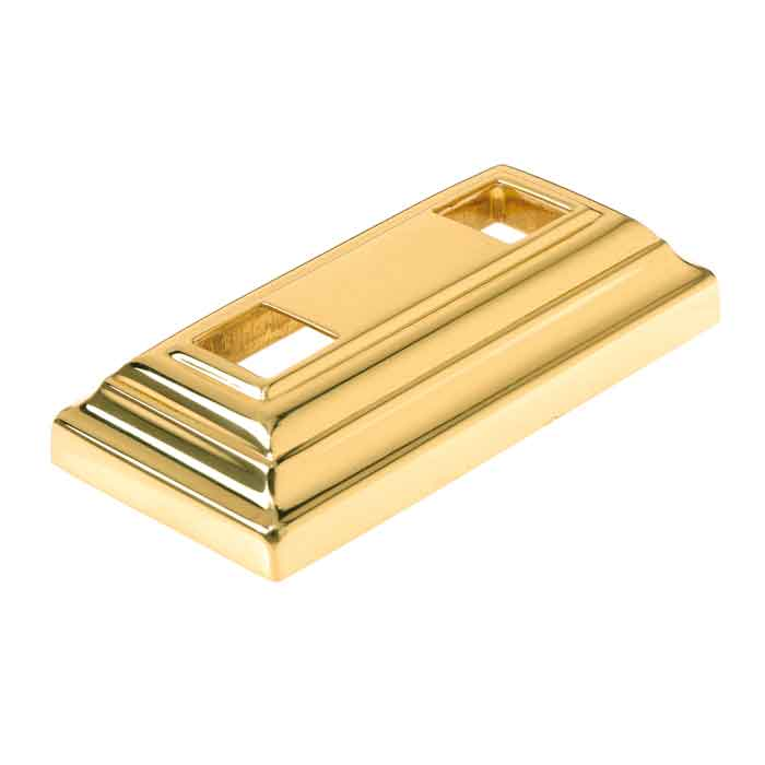 "Rectangular Brass Base Shoe for 5/8"" sq."