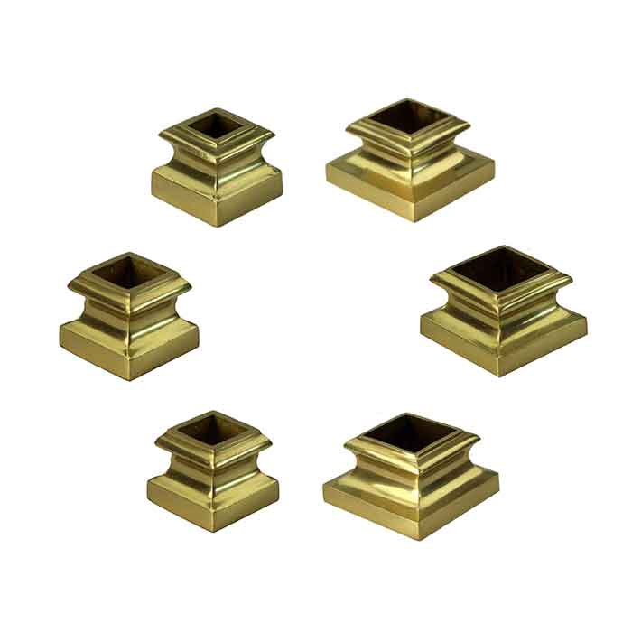 """Brass Base Shoes for 1/2"""" to 1-1/2"""" Square Bar"""