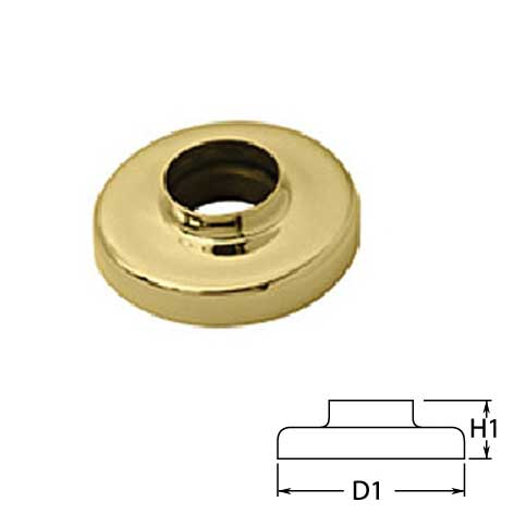 """Canopies in Brass for 1-1/2"""" dia. and 2"""" dia. Tubing"""