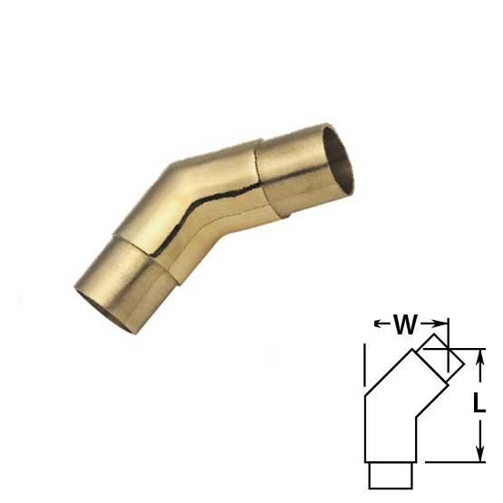 Flush 135 degree Angle in Brass