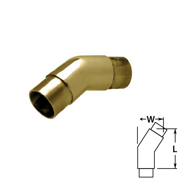 Flush 147 degree Angle in Brass