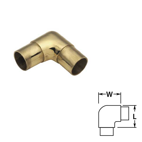 Flush Ells in Brass