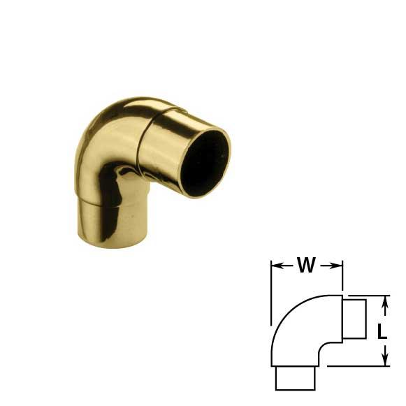 Flush Radius Ells in Brass