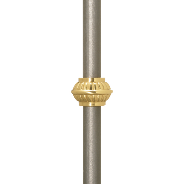 "Grande Forge Brass Picket Collars for 9/16"" and 5/8"" Round Bar, 7/8"" Tall"