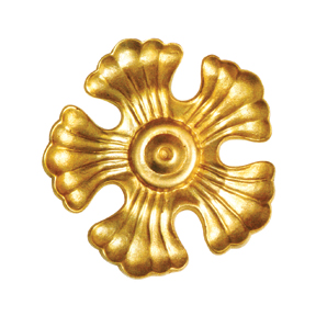 "4-3/8"" dia. Scalloped Brass Rosette with 5 Petals"