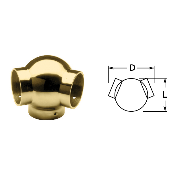 135 degree Side Outlet Ell in Brass