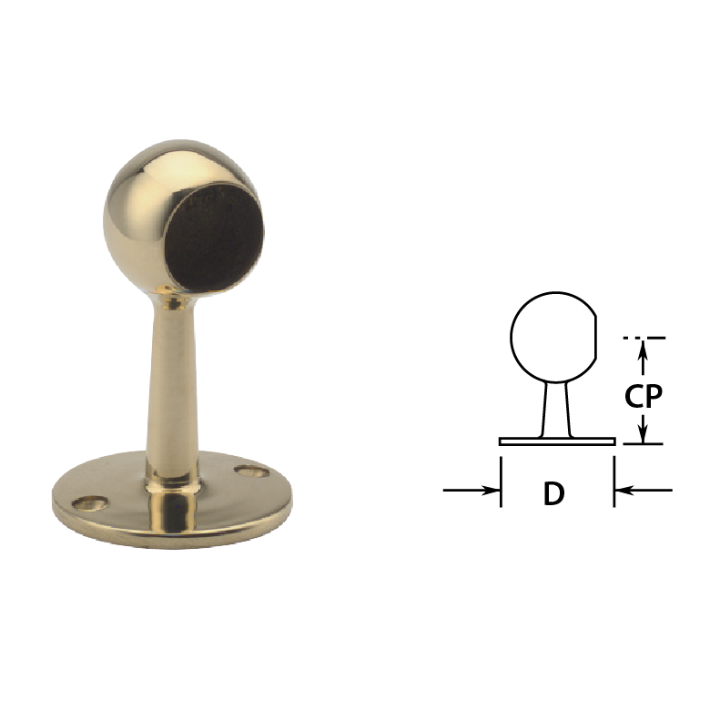Ball End Posts in Brass