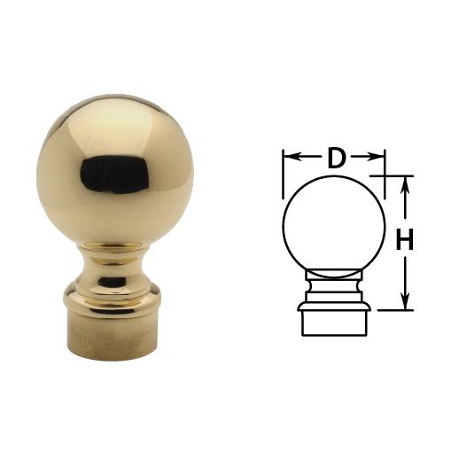 Ball Finials in Brass